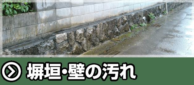 塀垣・壁の汚れ