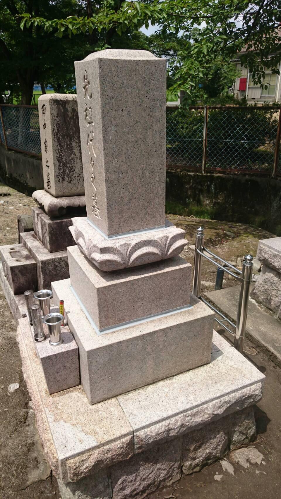 墓石の汚れ エコロビームで綺麗に除去