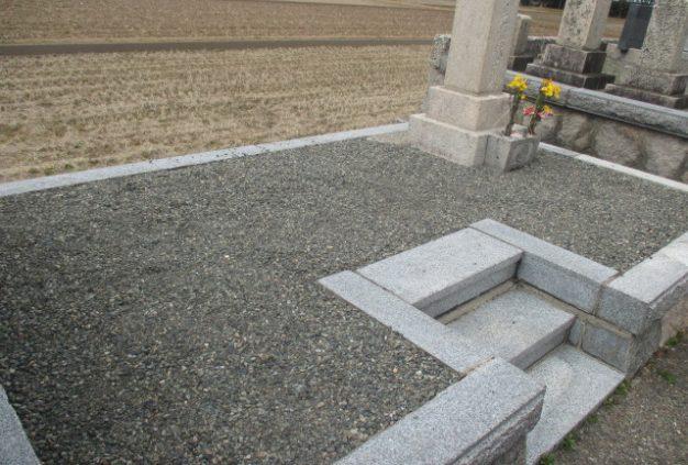 エコロビーム墓石洗浄後