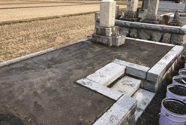 エコロビーム墓石洗浄前